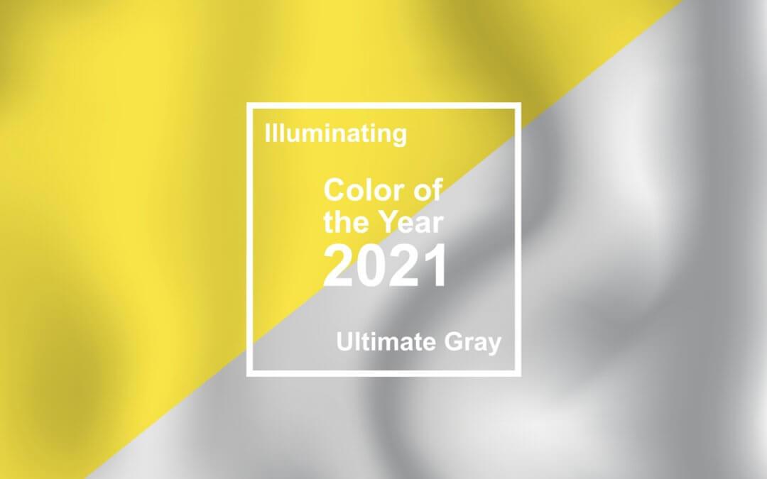 Colori dell'anno Pantone 2021: Giallo Illuminating e Grigio Ultimate Gray
