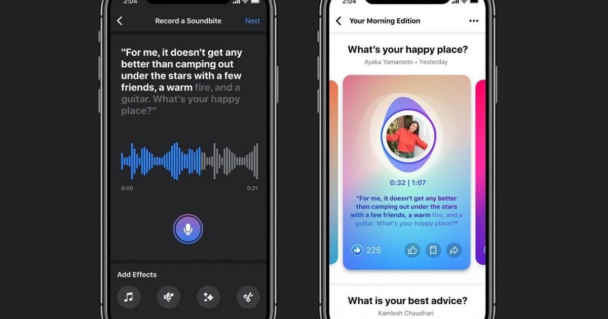 Facebook lancia prodotti audio